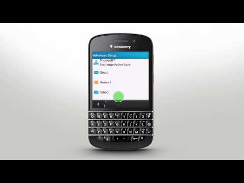 Account Setup: BlackBerry Q10 - Official How To Demo