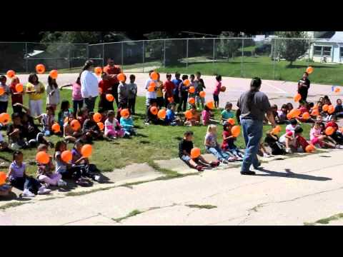 Walthill Public School Balloon Launch for National Suicide Prevention Week
