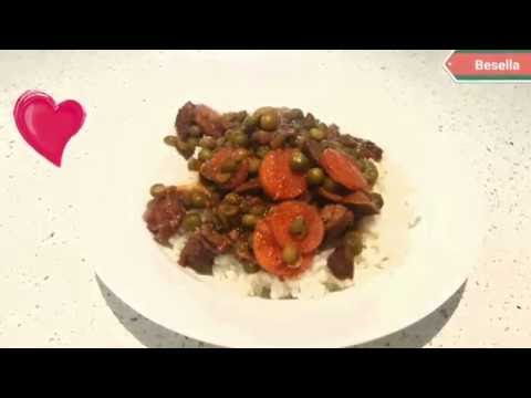 Egyptian beef stew and peas recipe (besella).بازلاء -easy
