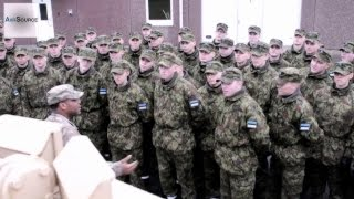 U.S. Military Show Off Their Gear to Estonian Army Conscripts