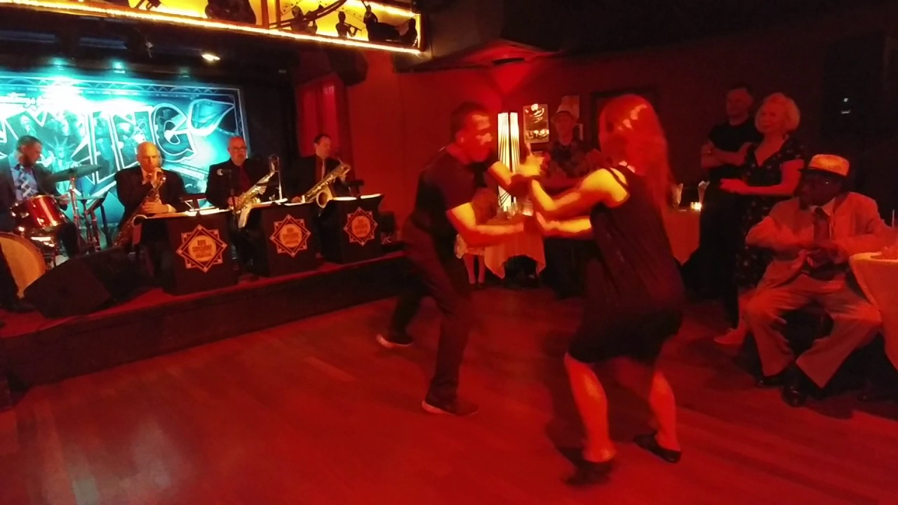 A Parisian Couple Swing Dance At Swing 46 In Nyc Youtube