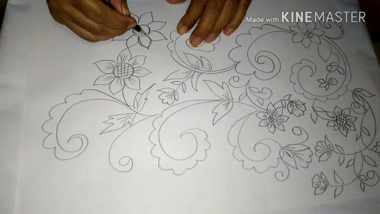 84 Gambar Sketsa Flora Batik Paling Keren