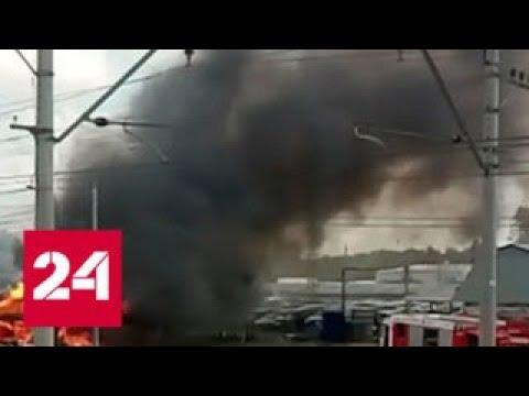Смотреть фото Пассажирский автобус сгорел на пути из Лобни в Москву - Россия 24 новости Россия