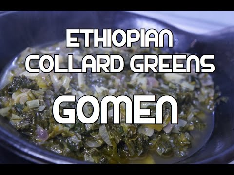 Ethiopian Collard Greens Recipe Video Amharic English