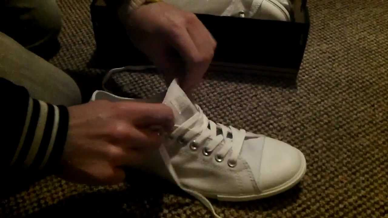 b400011b1239 White Converse Low with slim sole - Like The Who Converse - YouTube