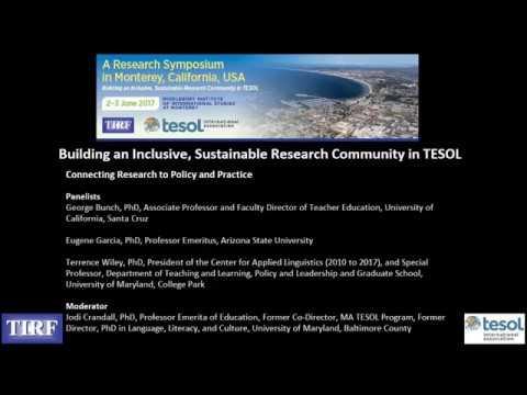TESOL-TIRF Research Symposium: Language Planning & Policy