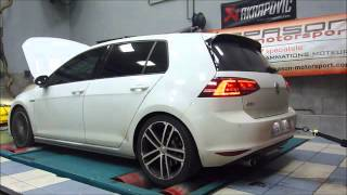 Golf 7 GTD - Reprogrammation moteur - Dyno