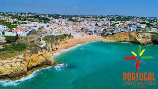 Carvoeiro beach - Algar seco aerial -  Lagoa - Algarve - 4K Ultra HD