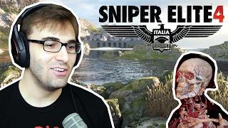 SNIPER ELITE 4: ITALIA - Tiro no Saco Seguido de Explosão! (PS4 Pro Gameplay)