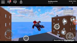 Wet Spider man game back home at Roblox