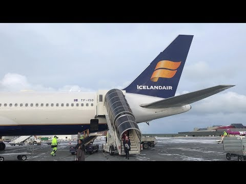 The airline that pies you off - Iceland air 767-300ER LHR - KEF
