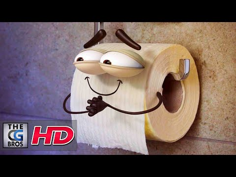 "CGI & VFX Animated Micro Short: ""The Life of a Toilet Roll"" - by Flat Face Animation"