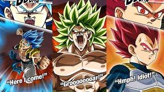 GLOBAL! GOGETA BLUE | FULL POWER SSJ BROLY | SSG VEGETA & GOKU & ALL INCOMING CARDS SUPER ATTACKS!