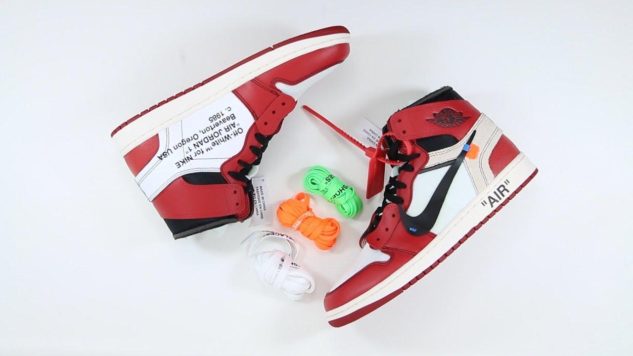 The Off-White x Air Jordan 1 vs 1985 OG