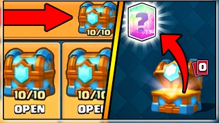 NEW GLITCH IN CLASH ROYALE | TIER 10 MAX CLAN CHEST OPENING!
