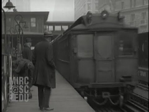 A Stop on the New York El, November 1927 [Dubbed Sound]