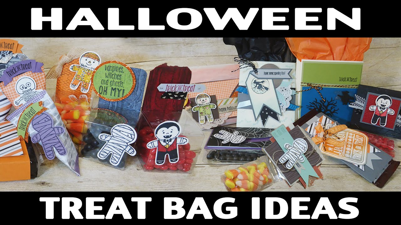 Stamping Jill Halloween Treat Bag Ideas Youtube