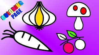 How to Draw Vegetables?   Vegetables Drawing and Coloring Pages for Kids