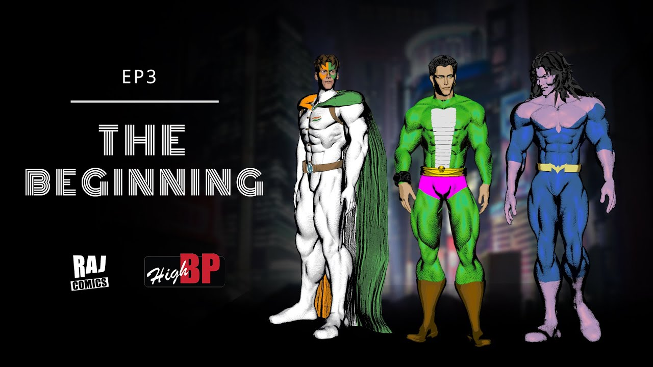 EP 3 |The Beginning | Animated Video | Nagraj | Tiranga | Anthony |  Raj comics | High BP TV