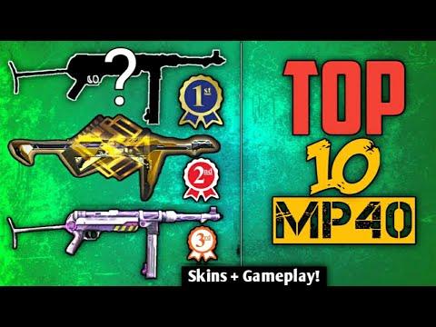 TOP 10 MP40 SKINS IN FREE FIRE ll Best Mp40 Skin in Free Fire ll Mp40 COMPARISON ll FUTURISTIC GAMER
