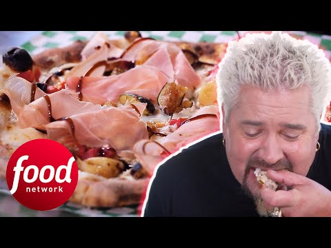 Guy Fieri Eats A Handmade Pizza With