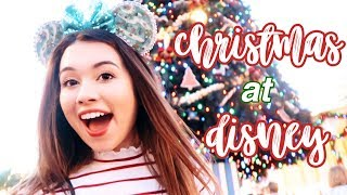 seeing disney world at christmas for the FIRST time *emotional*