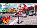 Spiderman VS Train - រថភ្លើង ប៉ះមនុស្សពីងពាង - GTA 5 Redux Real Life Ep184 Khmer|VPROGAME