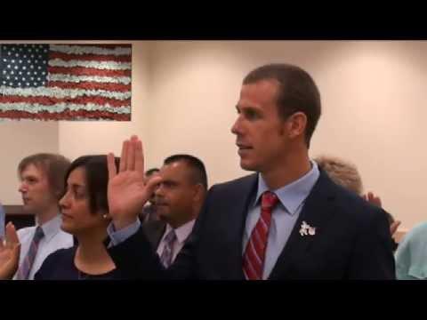Darian Townsend Becomes An American Citizen
