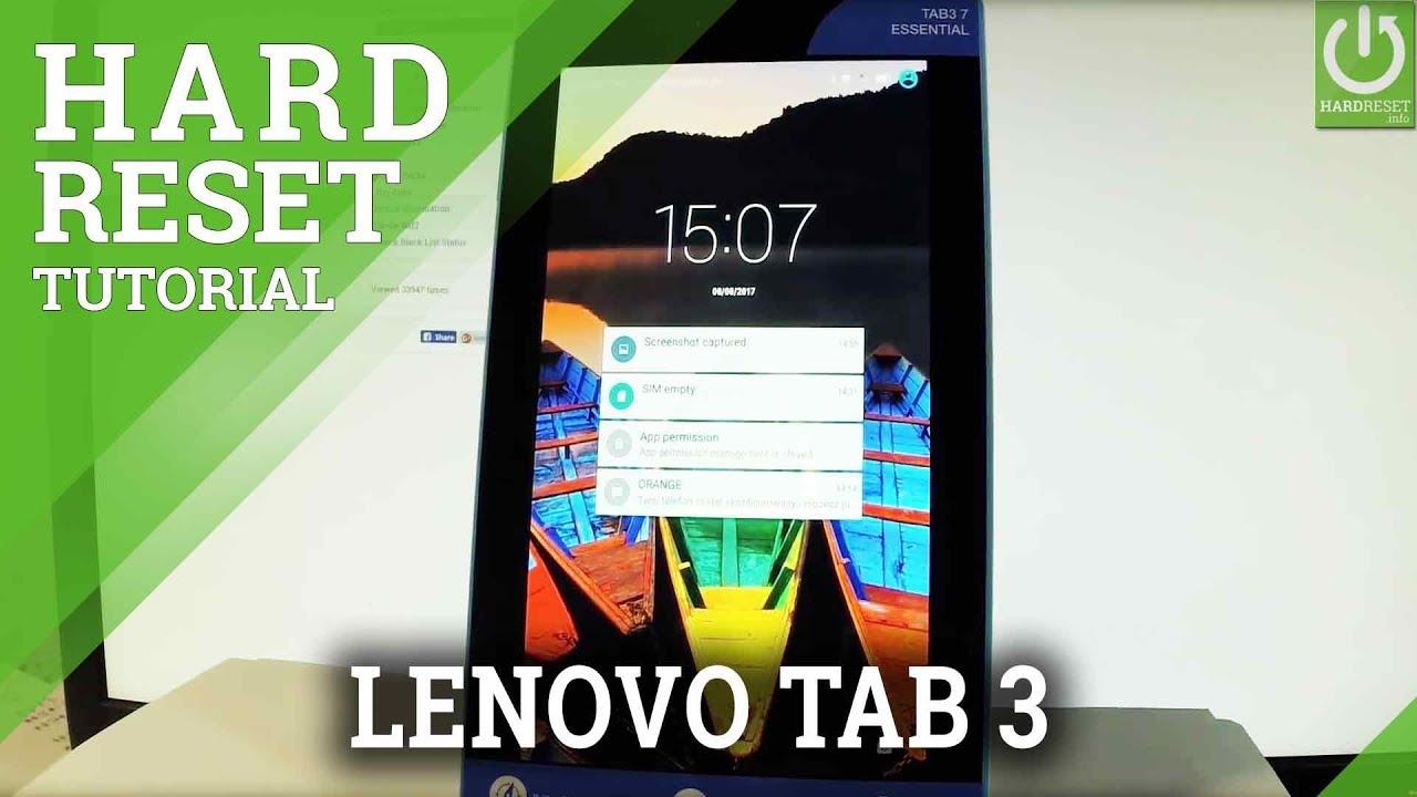 Hard Reset LENOVO Tab3 8