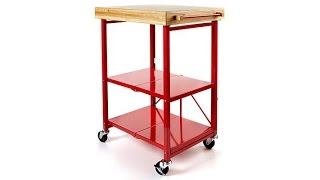 Origami Folding Kitchen Island Cart With Casters