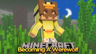 MINECRAFT - HOW TO BECOME A WEREWOLF w/ DONUT THE DOG & BABY MAX