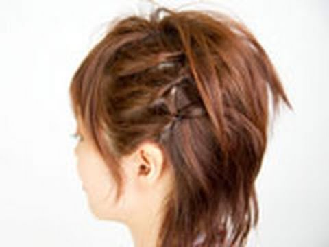 最新のヘアスタイル 髪型 三つ編み : Asymmetry Hair Style