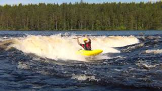 Lieksa, Ruunaa, Neitikoski, freestyle kayak. 7.07.2012