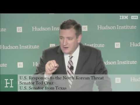 Sen. Cruz Addresses the Hudson Institute on North Korea  - January 24, 2018