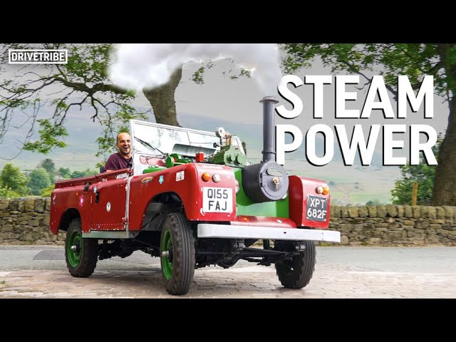 This guy has built a steam-engined Land Rover!