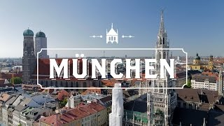A drone in Munchen 4K.Munchen from Drone Top Attractions 4K.Drone over Munchen 4K