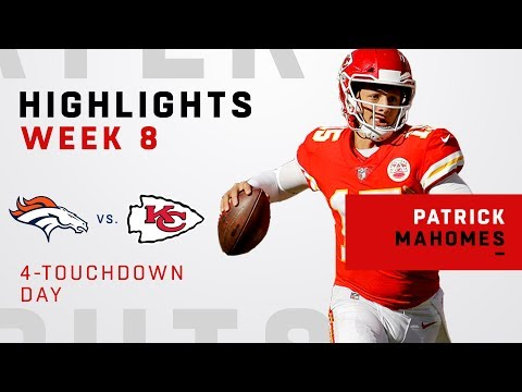 Patrick Mahomes Racks Up 4 TDs vs. Broncos
