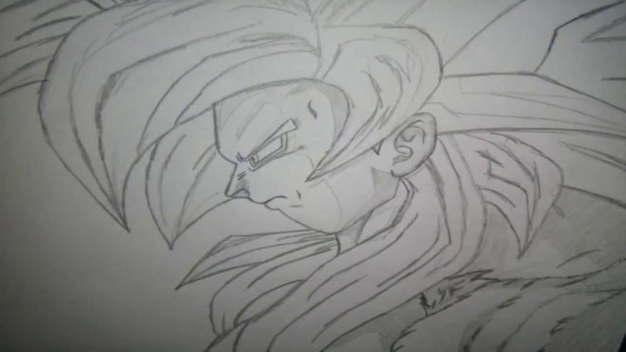 Desenhando O Goku Super Saiyajin 4 Dragon Ball Youtube