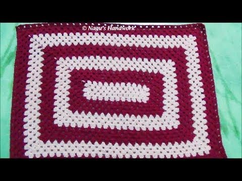 Rectangular Baby Blanket-How to Crochet Rectangular Granny A