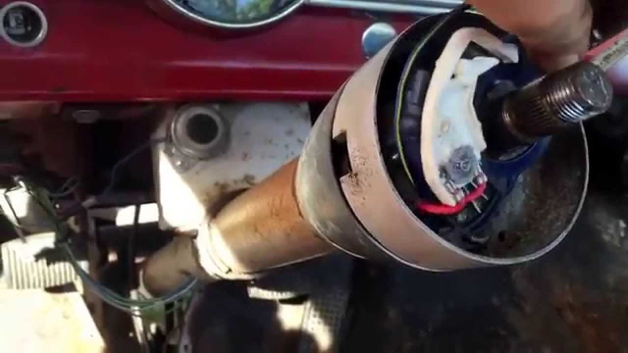 Remove steering column and manual steering box 63 f100 youtube