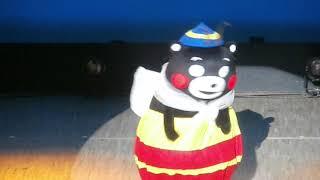 みなしごハッチの衣装のまま・・・突然踊りだすくまモン♫ それは某ビヨンセ芸人さんに似せてるの?( ˆmˆ ) 「くまモン誕生祭2018in熊本...