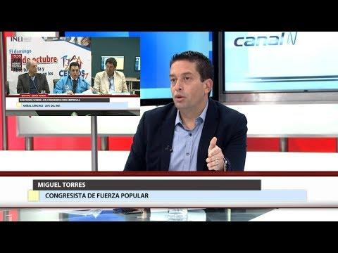 Fujimorista Miguel Torres cuestiona labor del jefe del INEI por Censo Nacional 2017