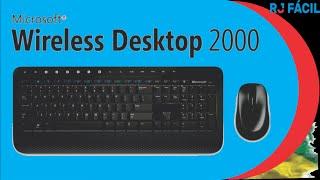 Kit Teclado e Mouse: Microsoft Wireless Desktop 2000