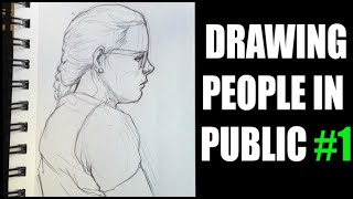 Drawing People in Public - USD - Easy Things to Draw