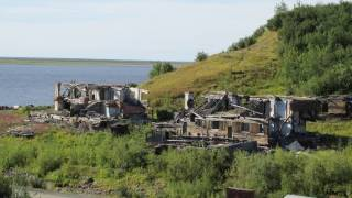 Yenisei river in Siberia, Dudinka, Russia / Енисей, Дудинка