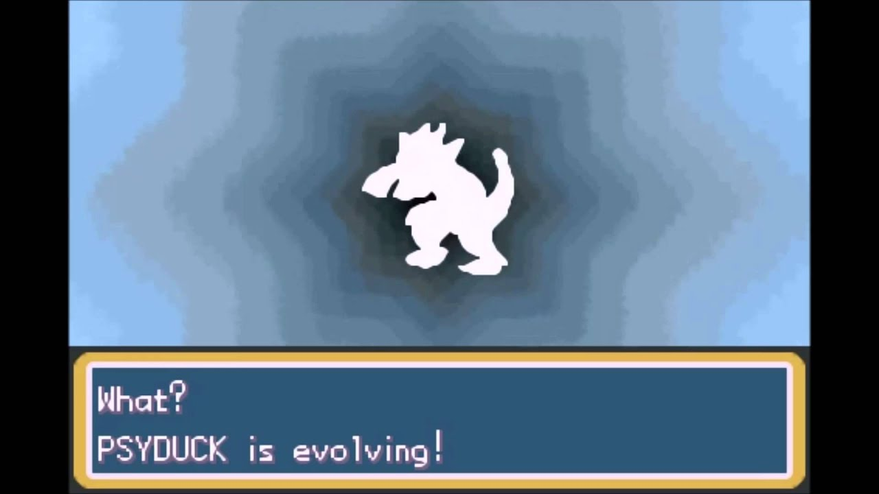 Pokémon Fire Red Gba Psyduck Evolves Into Golduck