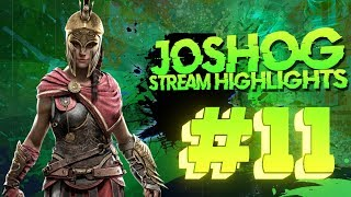 Assassin Creed Odyssey BUGS - JoshOG Stream Highlights #11 - (Funny Twitch Moments/Epic Plays)