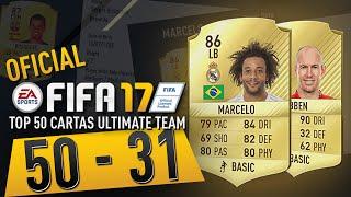 OFICIAL EA SPORTS OVERALL FIFA 17 CARTAS ULTIMATE TEAM 50 - 31
