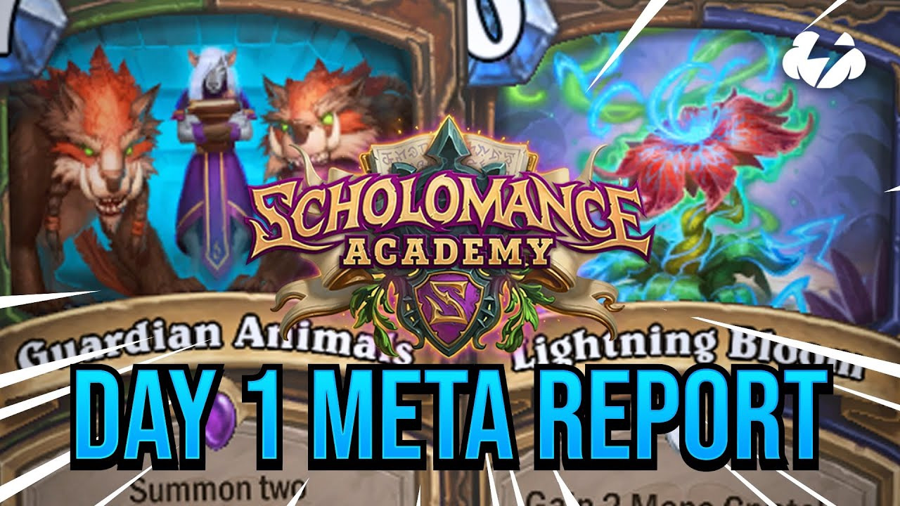 DAY 1 META REPORT | Scholomance Academy | Tempo Strategy Hearthstone