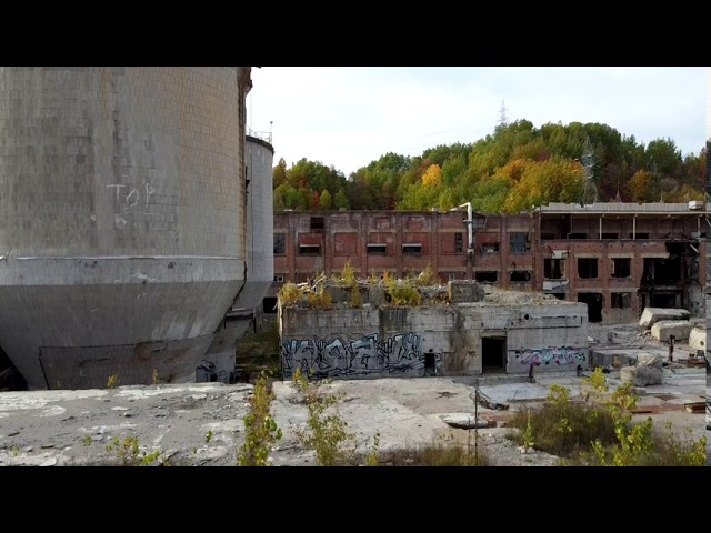Abandoned Belgo Paper Mill in Shawinigan, Quebec